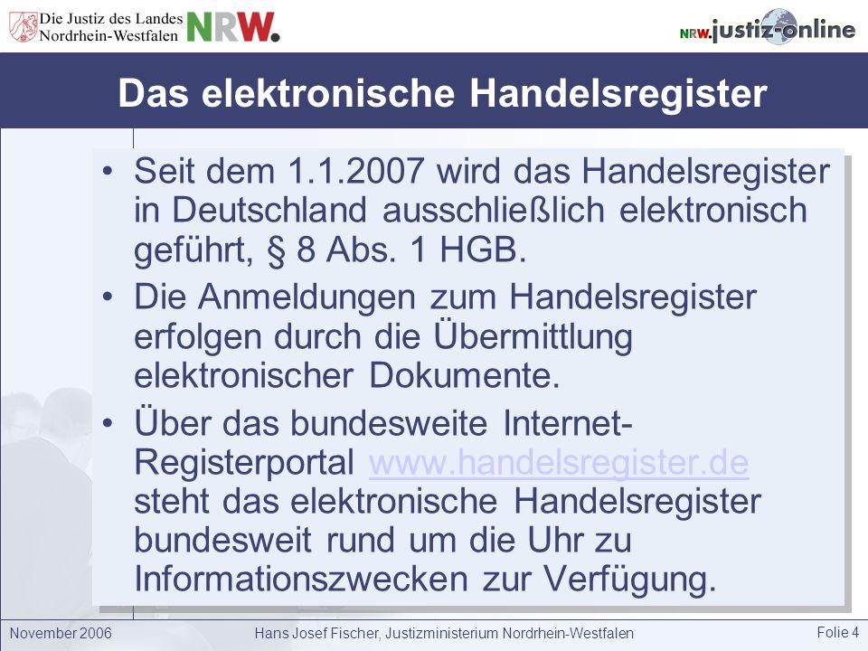 Das elektronische Handelsregister