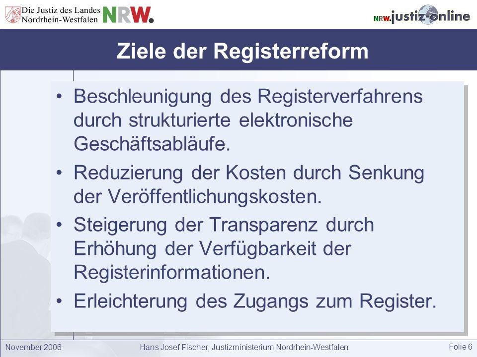 Ziele der Registerreform