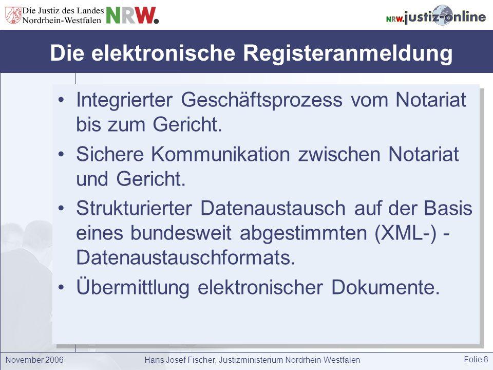 Die elektronische Registeranmeldung