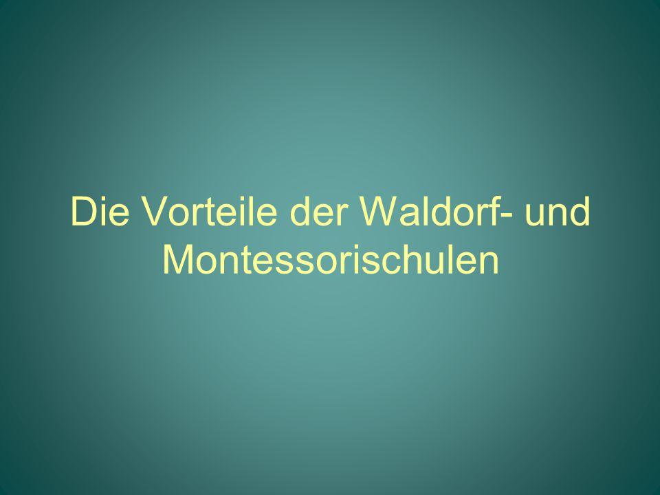 Die Vorteile der Waldorf- und Montessorischulen