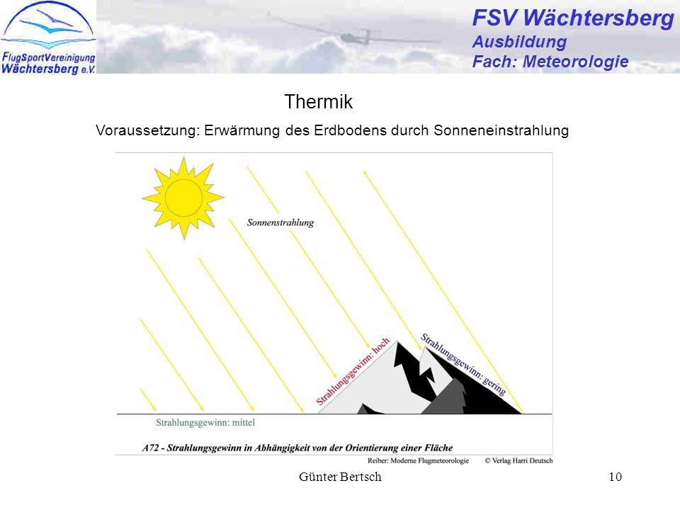 FSV Wächtersberg Thermik Ausbildung Fach: Meteorologie