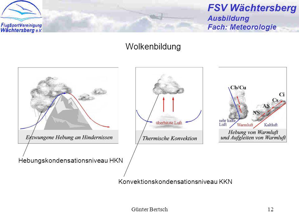 FSV Wächtersberg Wolkenbildung Ausbildung Fach: Meteorologie
