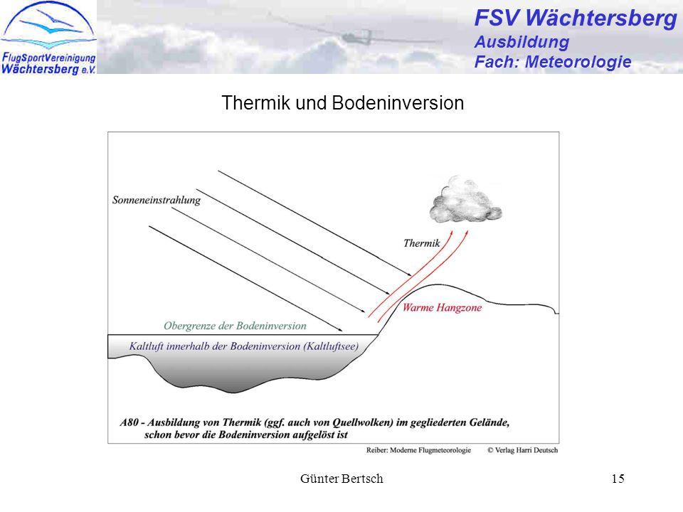 FSV Wächtersberg Thermik und Bodeninversion Ausbildung