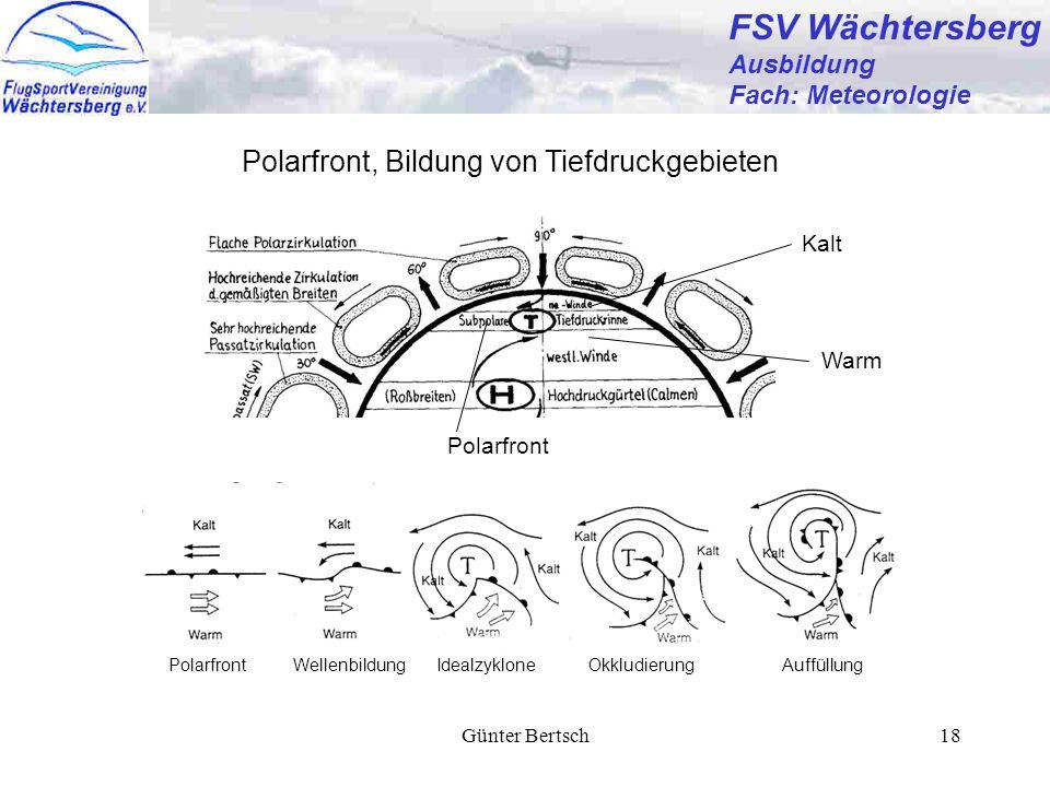 FSV Wächtersberg Polarfront, Bildung von Tiefdruckgebieten Ausbildung