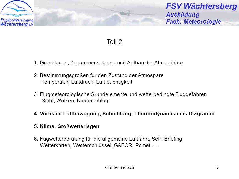 FSV Wächtersberg Teil 2 Ausbildung Fach: Meteorologie