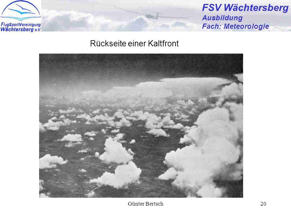 FSV Wächtersberg Rückseite einer Kaltfront Ausbildung