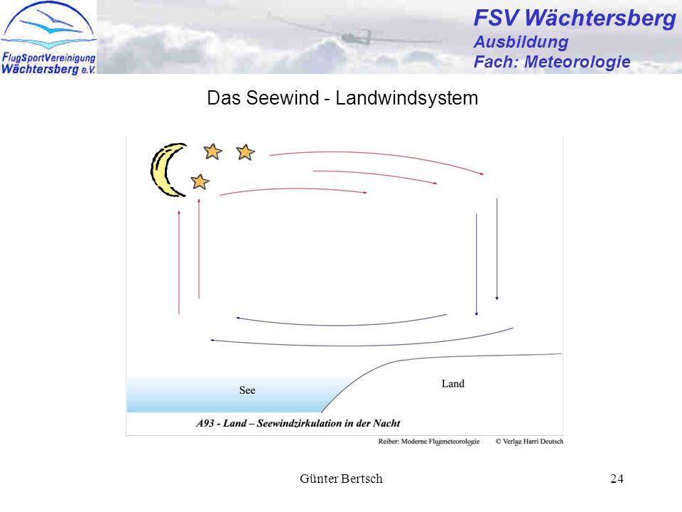 FSV Wächtersberg Das Seewind - Landwindsystem Ausbildung