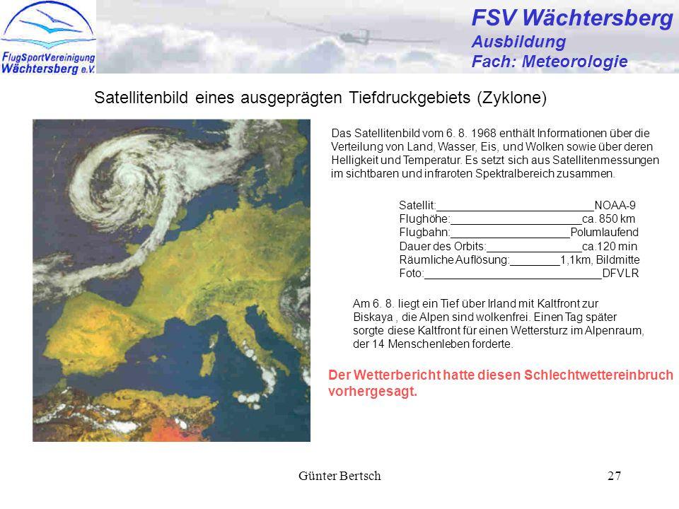 FSV Wächtersberg Ausbildung Fach: Meteorologie