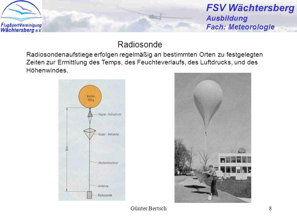 FSV Wächtersberg Radiosonde Ausbildung Fach: Meteorologie