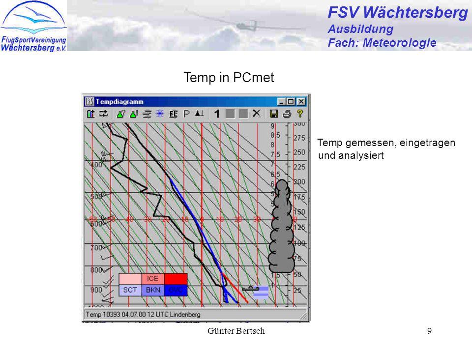 FSV Wächtersberg Temp in PCmet Ausbildung Fach: Meteorologie