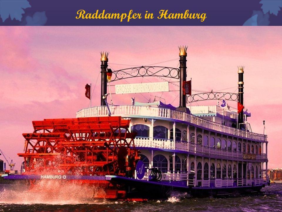 Raddampfer in Hamburg
