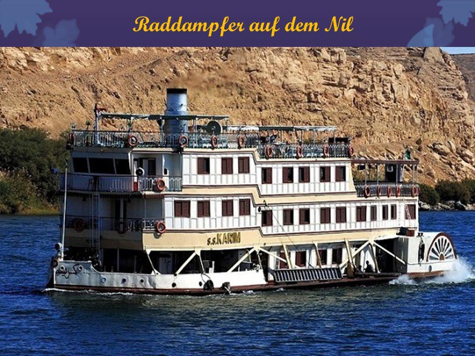 Raddampfer auf dem Nil