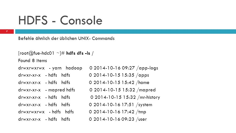 HDFS - Console