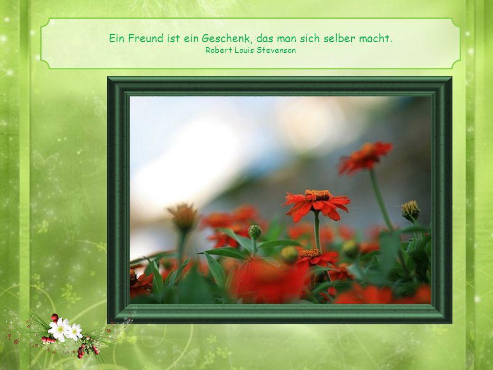 Ein Freund ist ein Geschenk, das man sich selber macht.