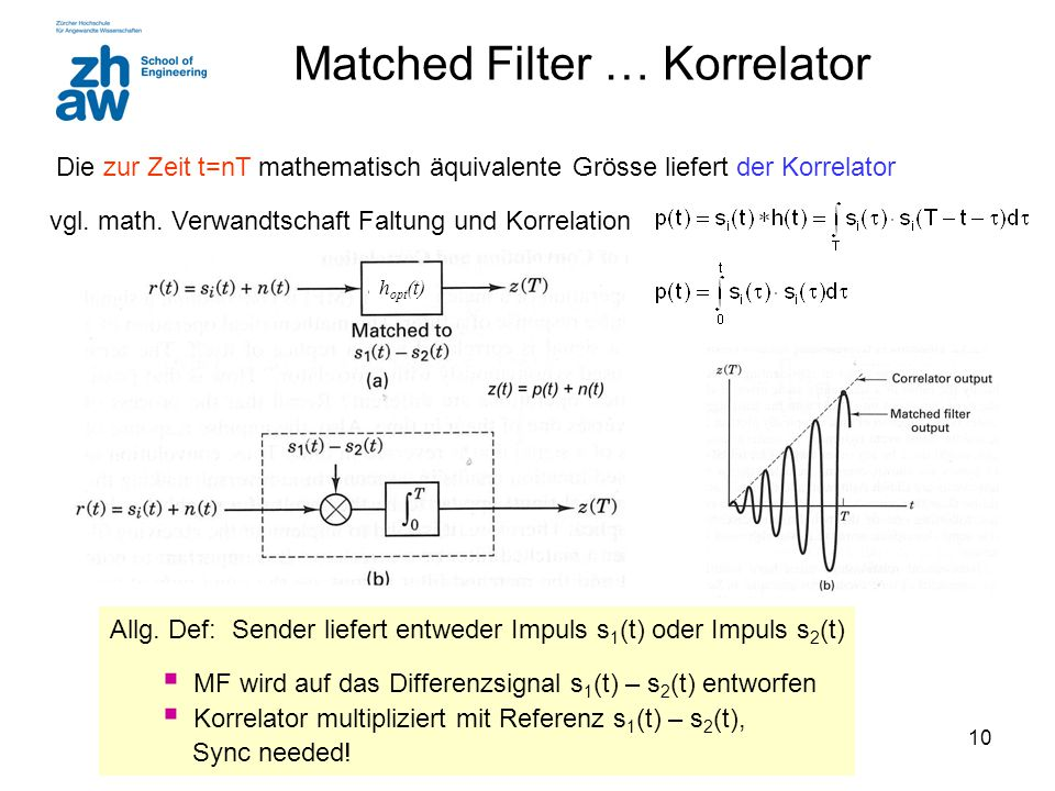 Matched Filter … Korrelator
