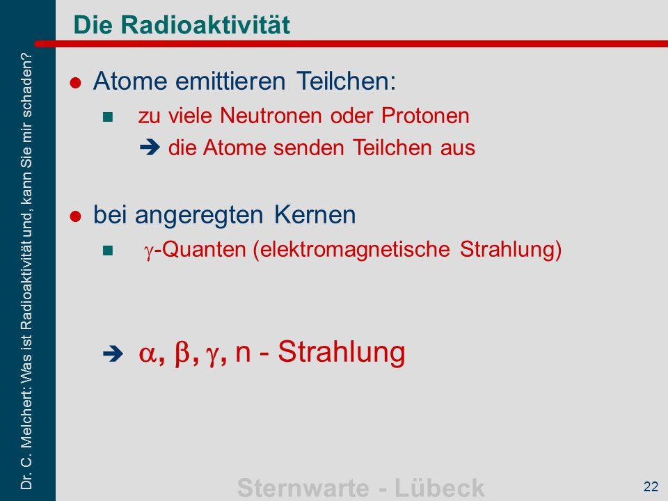 Atome emittieren Teilchen: