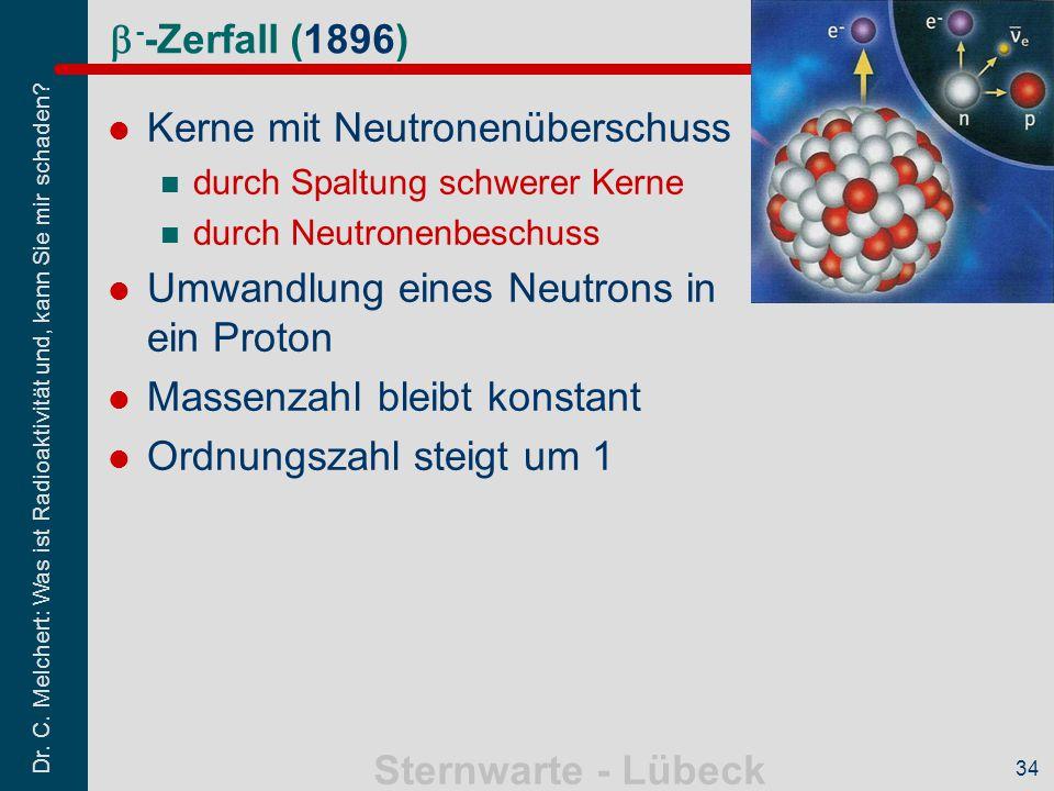 Kerne mit Neutronenüberschuss