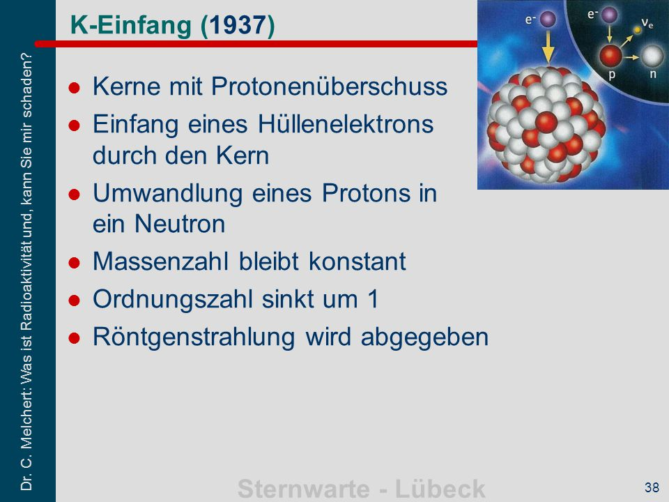 Kerne mit Protonenüberschuss