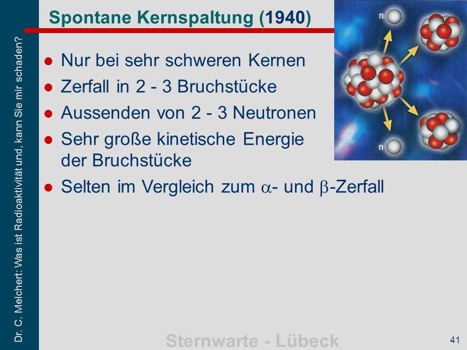 Spontane Kernspaltung (1940)