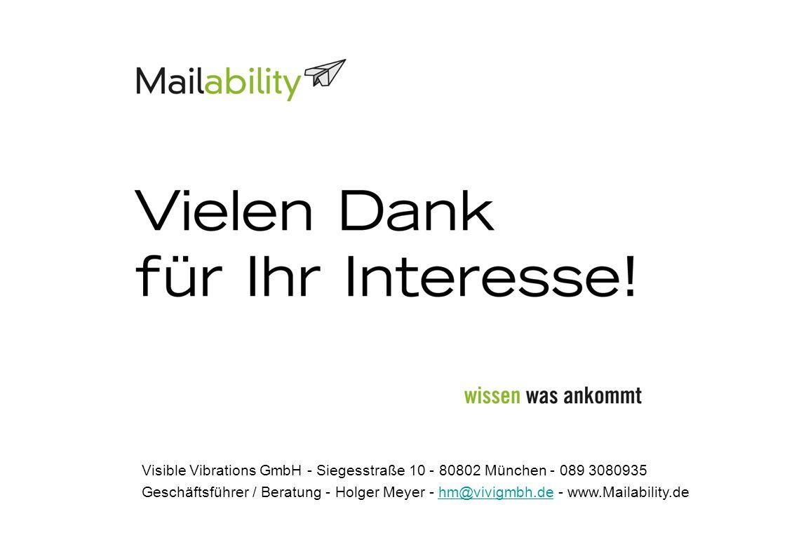 Visible Vibrations GmbH - Siegesstraße 10 - 80802 München - 089 3080935