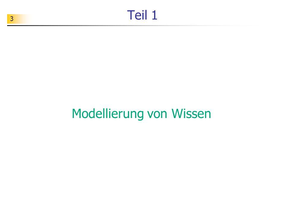 Modellierung von Wissen