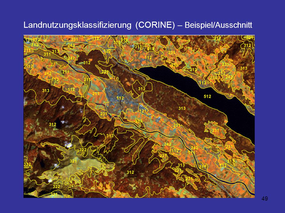 Landnutzungsklassifizierung (CORINE) – Beispiel/Ausschnitt