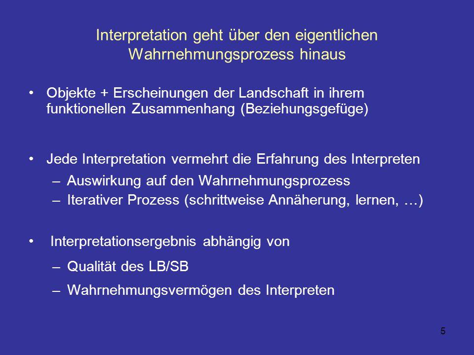 Interpretation geht über den eigentlichen Wahrnehmungsprozess hinaus