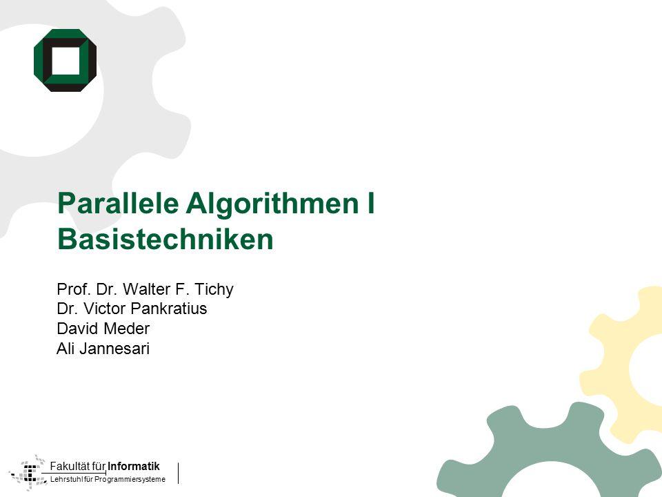 Parallele Algorithmen I Basistechniken
