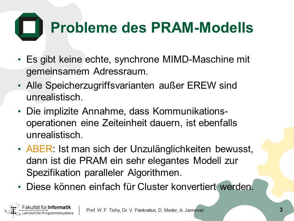 Probleme des PRAM-Modells