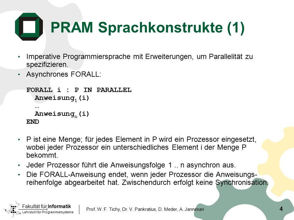 PRAM Sprachkonstrukte (1)