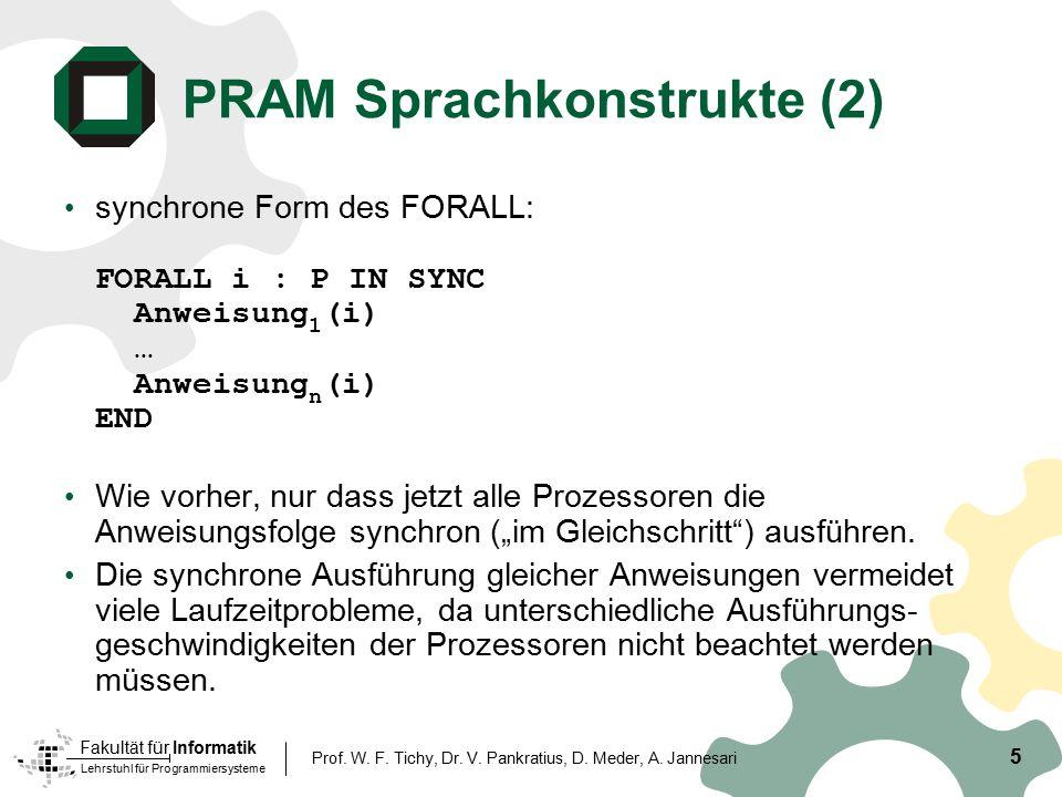 PRAM Sprachkonstrukte (2)