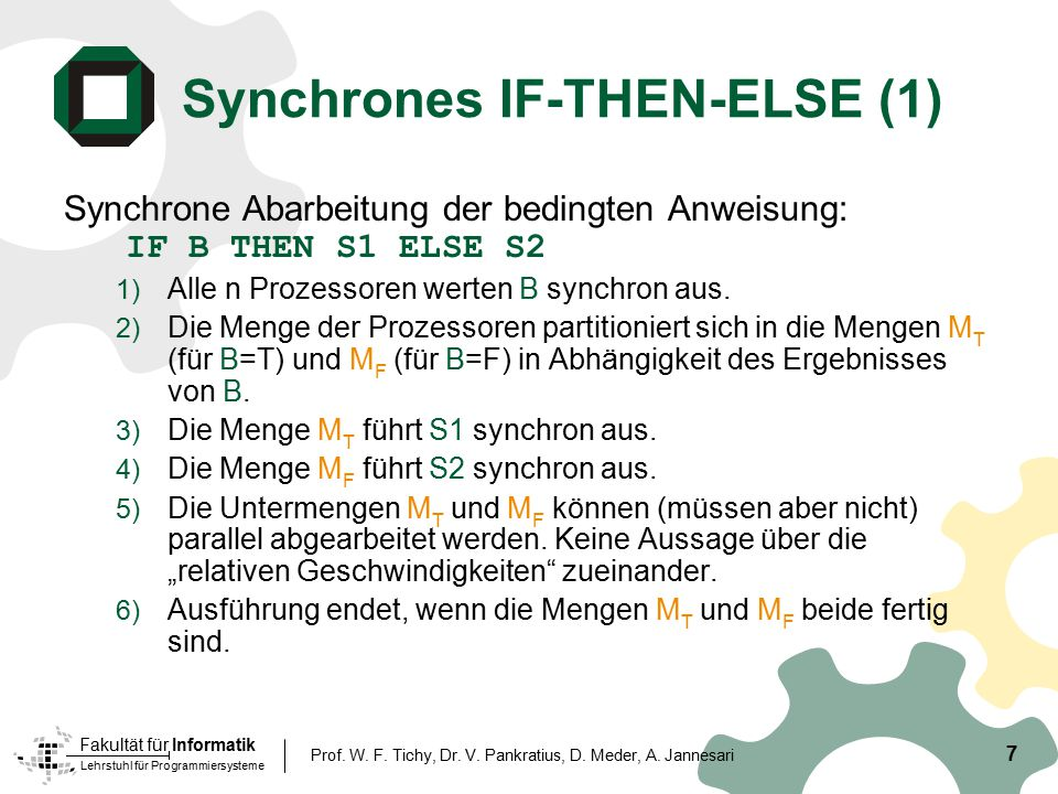 Synchrones IF-THEN-ELSE (1)