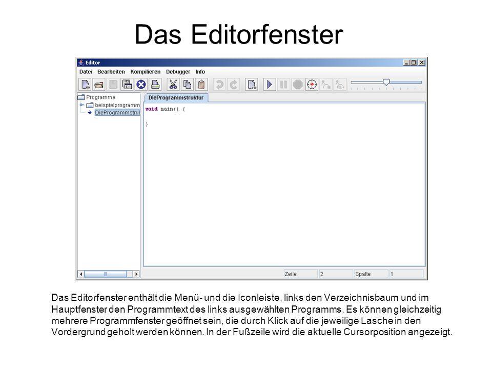 Das Editorfenster