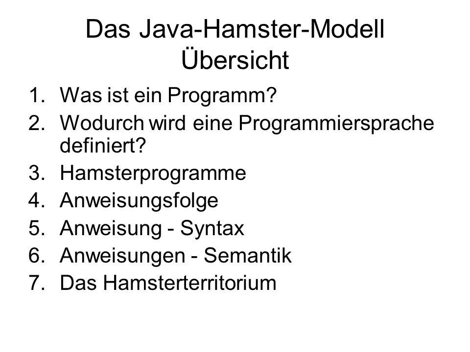 Das Java-Hamster-Modell Übersicht