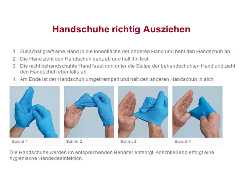 Handschuhe richtig Ausziehen