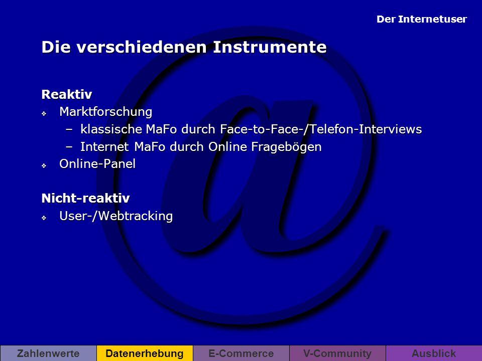 Die verschiedenen Instrumente