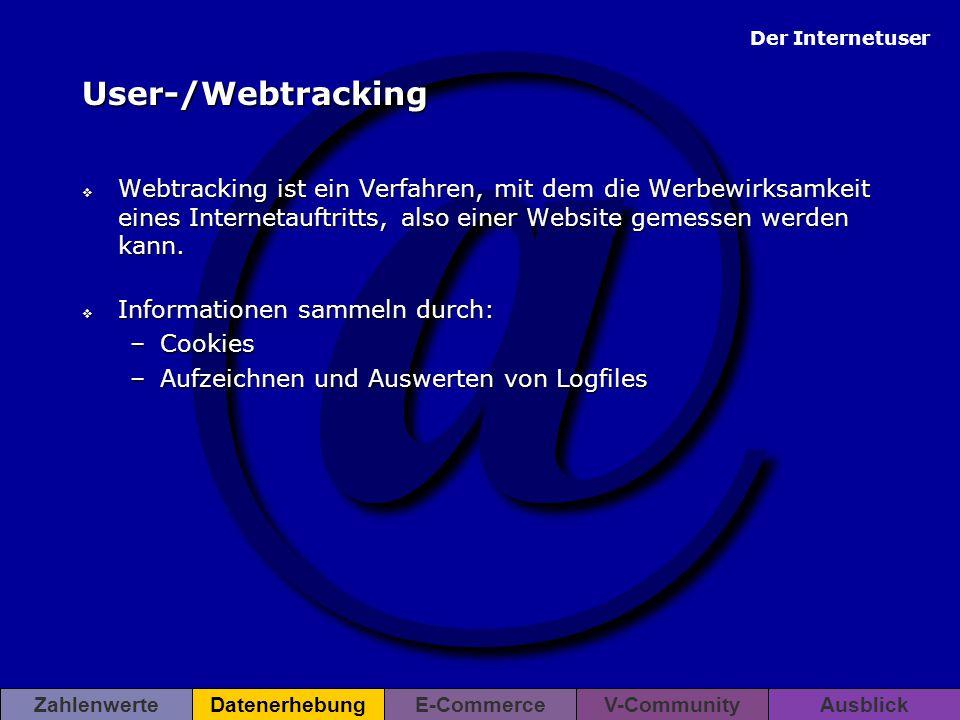 User-/Webtracking Webtracking ist ein Verfahren, mit dem die Werbewirksamkeit eines Internetauftritts, also einer Website gemessen werden kann.