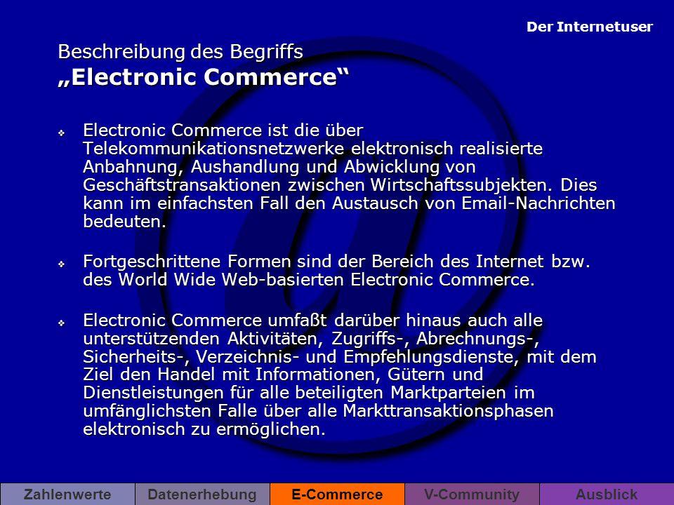 """Beschreibung des Begriffs """"Electronic Commerce"""