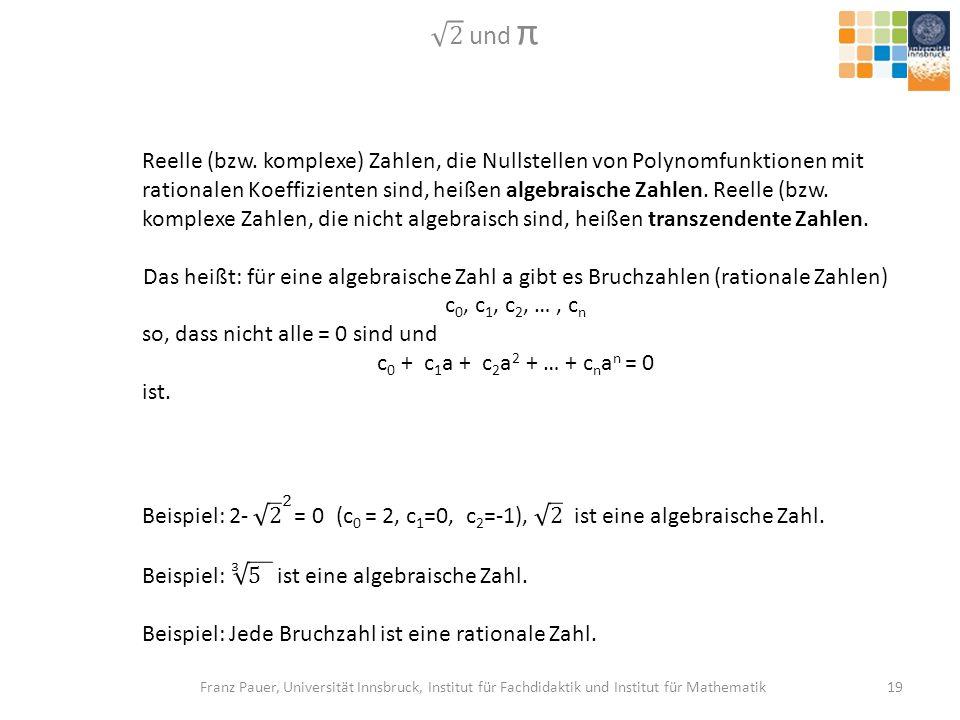 2 und π