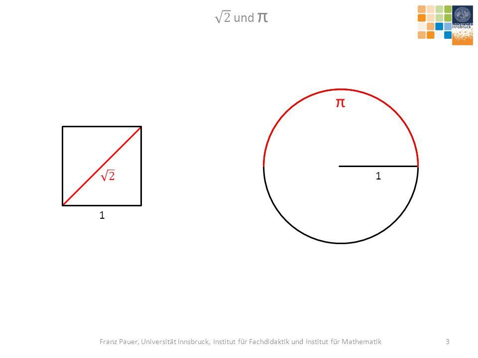 2 und π π. 2. 1. 1.