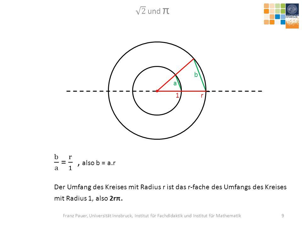 2 und π b. a. 1. r. b a = r 1 , also b = a.r.