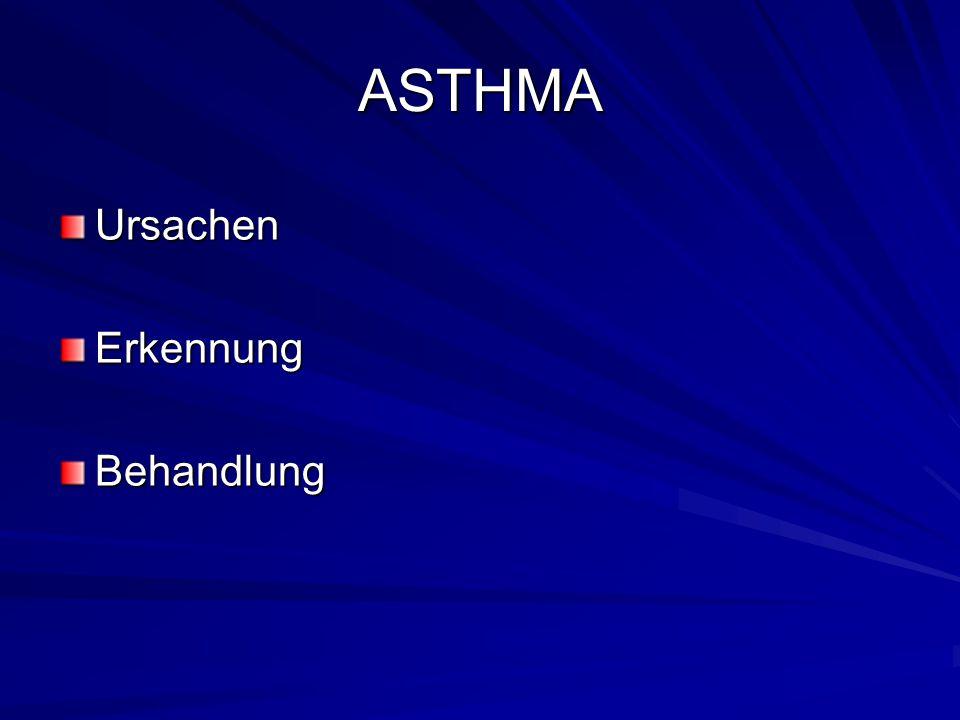 ASTHMA Ursachen Erkennung Behandlung