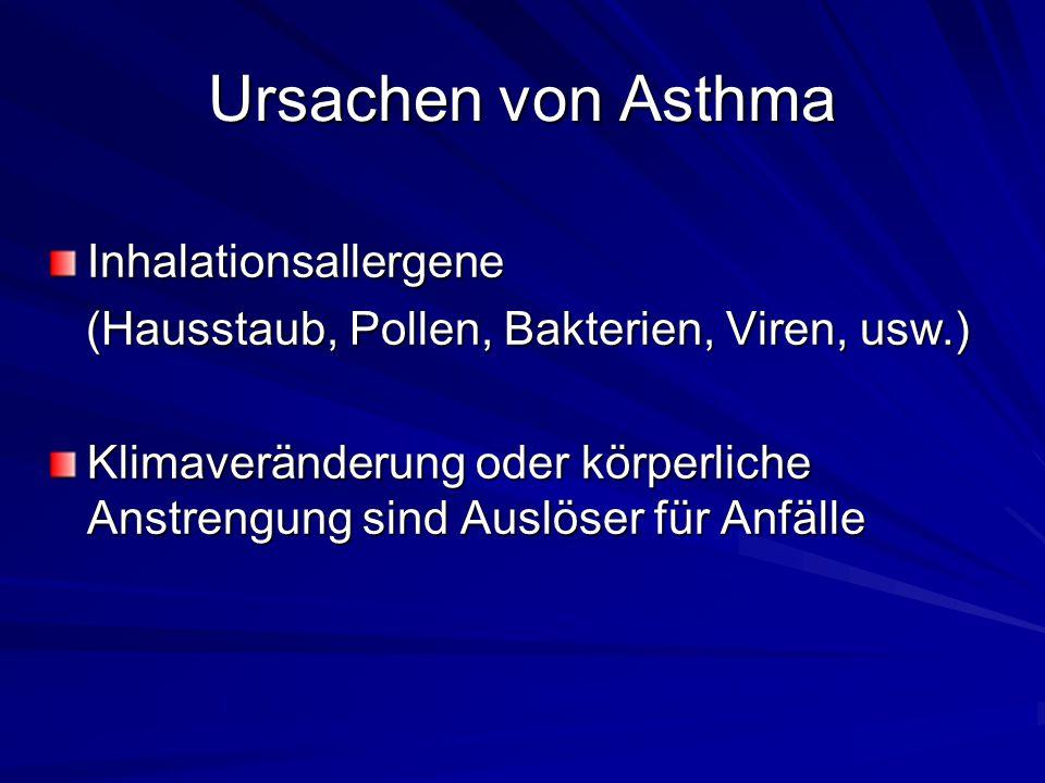 Ursachen von Asthma Inhalationsallergene