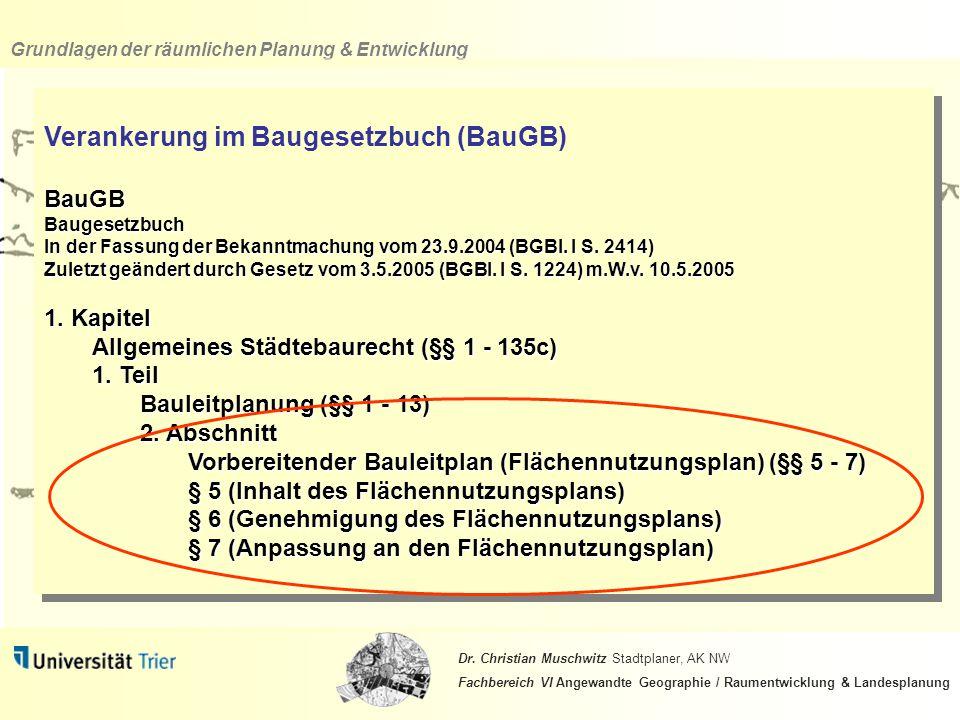 Verankerung im Baugesetzbuch (BauGB)