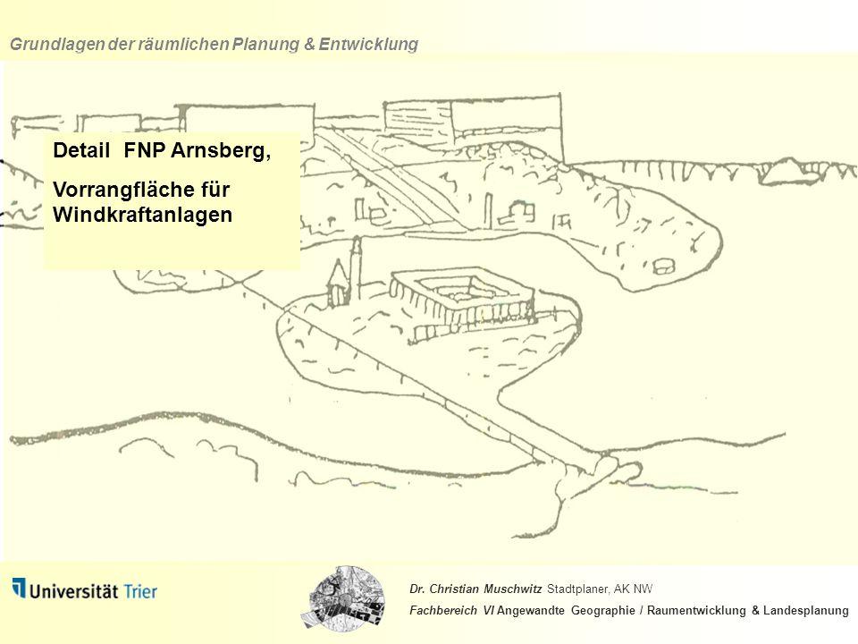 Detail FNP Arnsberg, Vorrangfläche für Windkraftanlagen