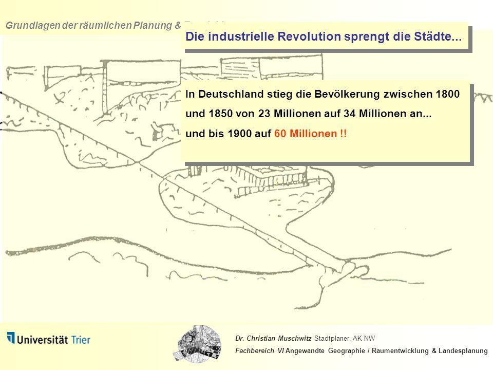 Die industrielle Revolution sprengt die Städte...