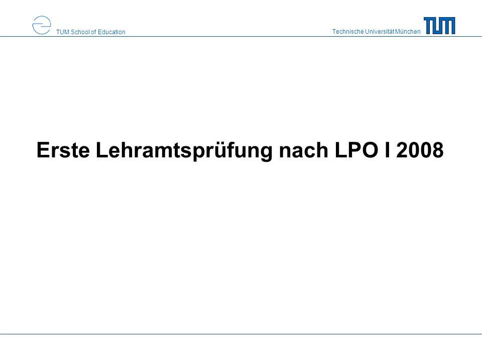 Erste Lehramtsprüfung nach LPO I 2008