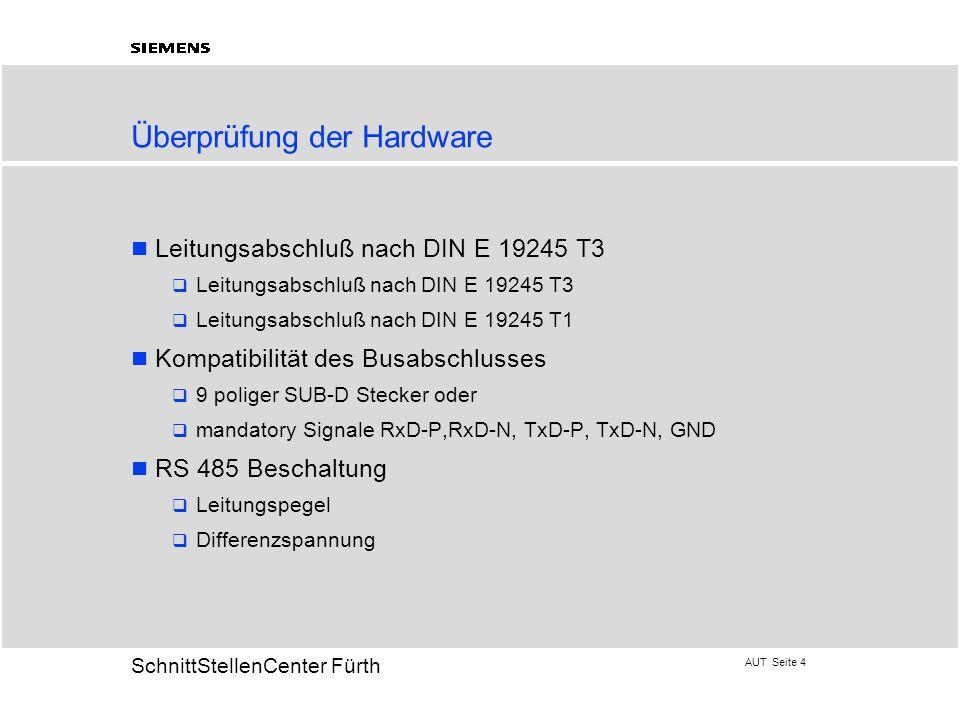 Überprüfung der Hardware