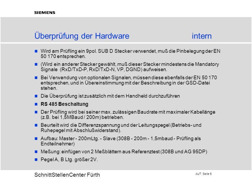 Überprüfung der Hardware intern