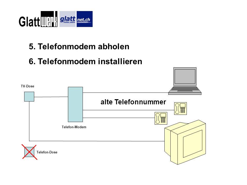6. Telefonmodem installieren